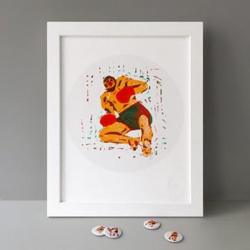 Muay Thaï (Man Down) print