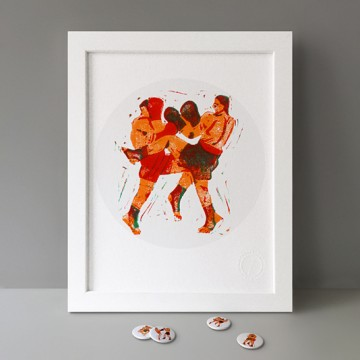 Muay Thaï (Right Kick) print