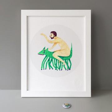 Naked Rider print