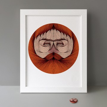 Bearded Man print