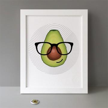 Avocado Hipster print
