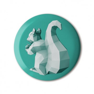 Squirrel 4 (polygon, patina, back, left) print