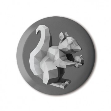 Squirrel 4 (polygon, silver, front, right)