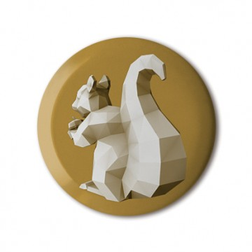 Squirrel 4 (polygon, gold, back, left)