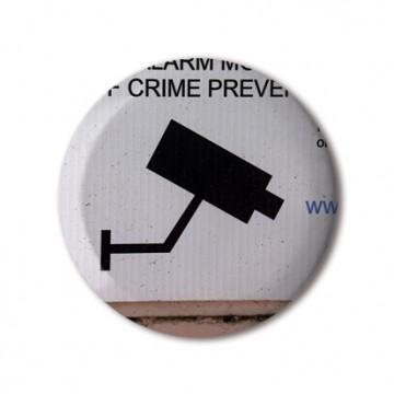 CCTV Sign 1 (grey, right) print