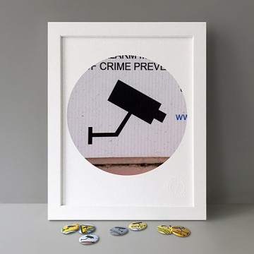CCTV Sign 1 (grey, right) print