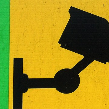 CCTV Sign 2 (yellow, green) print
