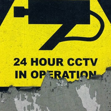 CCTV Sign 6 (triangle) print