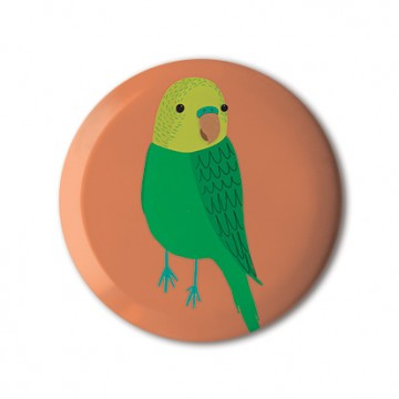 Bird (Budgie on Orange)