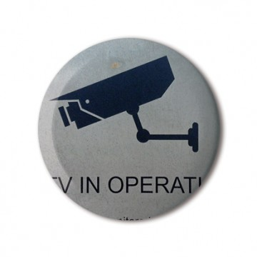 CCTV Sign 7 (grey, left)