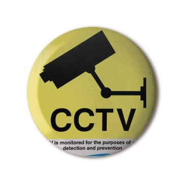 CCTV Sign 3 (yellow)