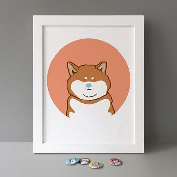 Shiba Inu Puppy print
