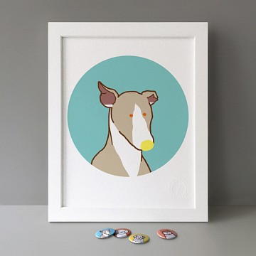 Whippet Puppy print