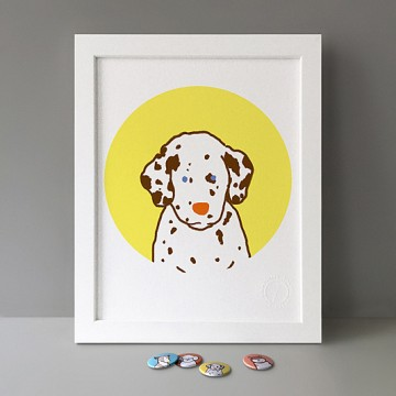 Dalmatian Puppy print