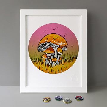Portobello Mushroom print