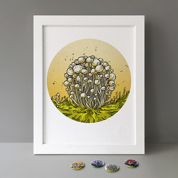 Alba Clamshell Mushrooms print