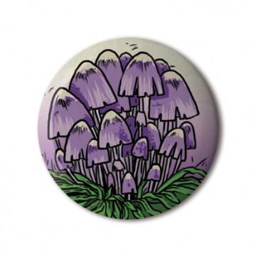 Purple Mushrooms print