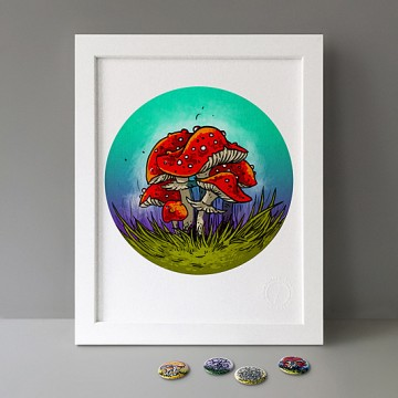 Fly Agaric Mushrooms print