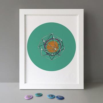Radiolaria Green print