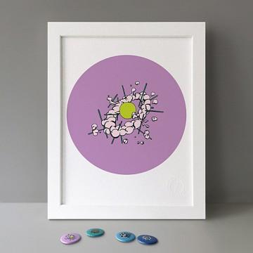 Radiolaria Lavender print