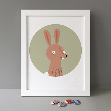 Scared Rabbit print