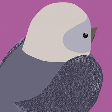 Bird (Grey Purple)