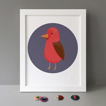 Red Bird print