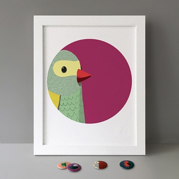 Bird Detail (Budgie) print