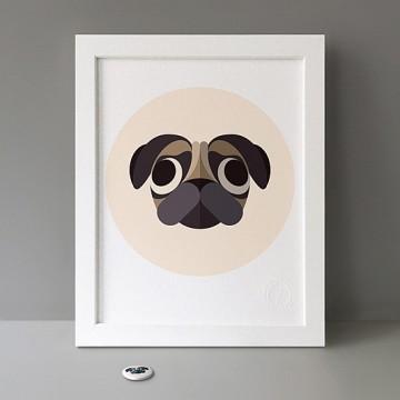 Dog (Pug) print