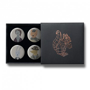 Gift Box: 4 button badges (Humanimals)
