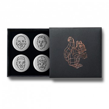 Gift Box: 4 button badges (Basketball Dream Team)