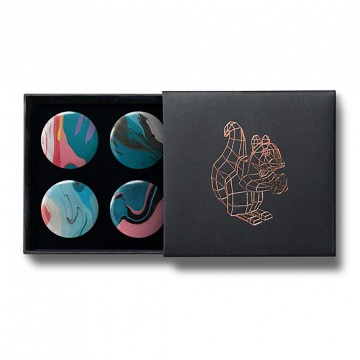 Gift Box: 4 button badges (Fluid Ink)
