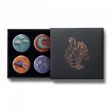 Gift Box: 4 button badges (Sky Doh)