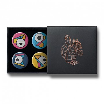 Gift Box: 4 button badges (Eye Geometry)