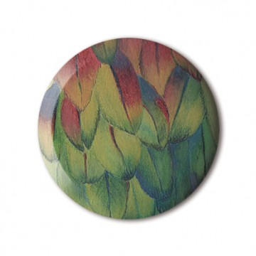 Gift Box: 4 button badges (Feathers)