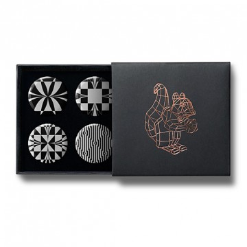 Gift Box: 4 button badges (Op Art)