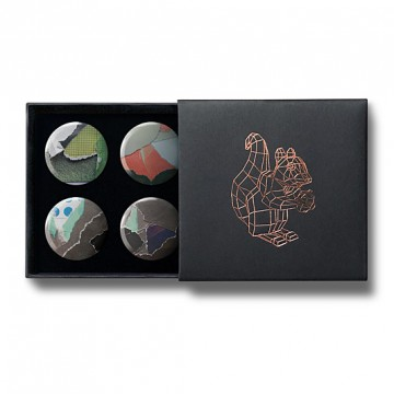 Gift Box: 4 button badges (Torn Paper)