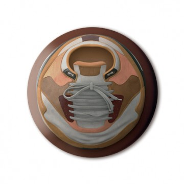 Gift Box: 4 button badges (Forced Circle 3D Objects)