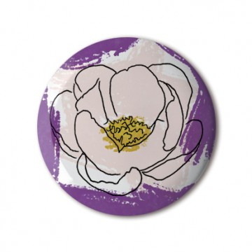 Gift Box: 4 button badges (Flower Illustrations)