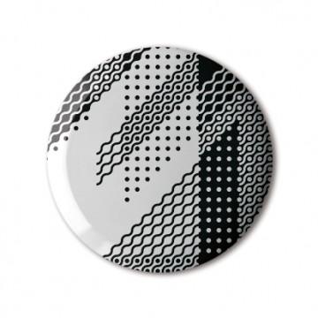 Gift Box: 4 button badges (B&W Pattern)