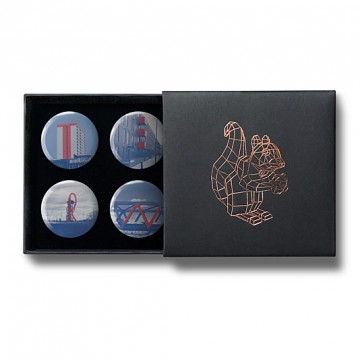 Gift Box: 4 button badges (Big Letter Hunt)