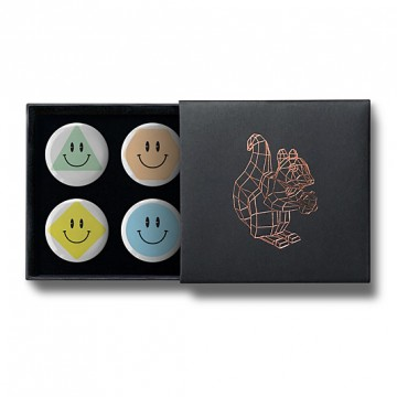 Gift Box: 4 button badges (Smilies)