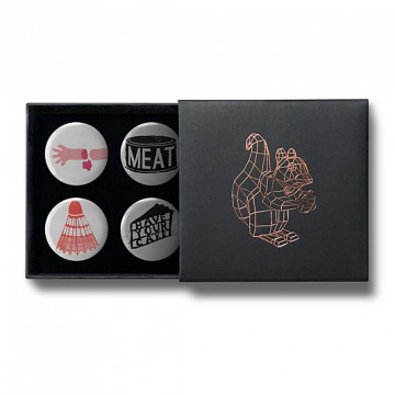 Gift Box: 4 button badges (Jono Mix)