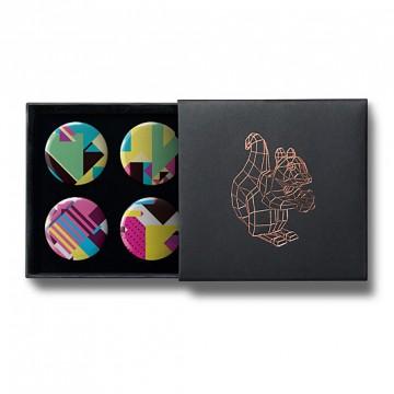 Gift Box: 4 button badges (Geometric Patterns)