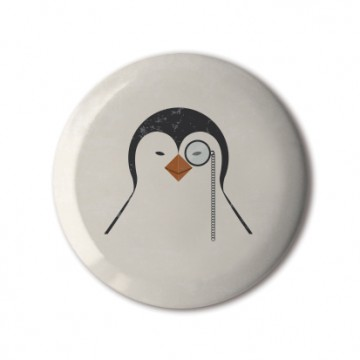 Gift Box: 4 button badges (Posh Penguins)