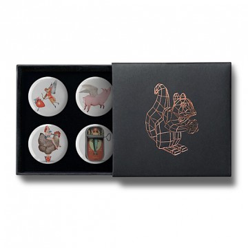Gift Box: 4 button badges (Valentine's Mix)