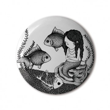 Gift Box: 4 button badges (Mermaids)