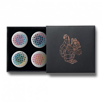Gift Box: 4 button badges (CMYK Stitches)