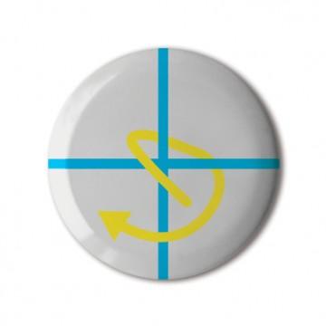 Gift Box: 4 button badges (Plus Arrows)