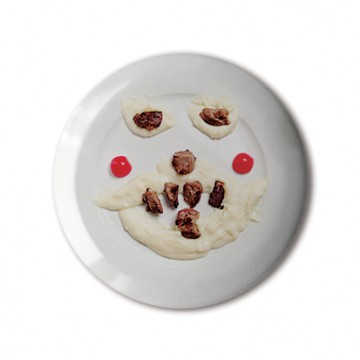 Gift Box: 4 button badges (Food Faces)